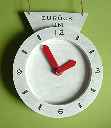 Türschild Möwen und Uhr Holz 2tlg. Wunschgravur