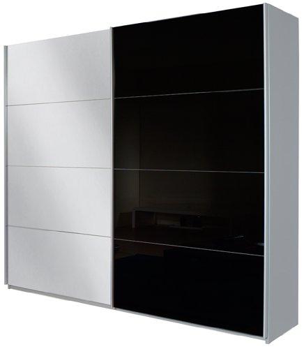 Rauch Schwebetürenschrank Quadra in Grau-Metallic / Glas Grau-Metallic BxHxT 62x210x270cm