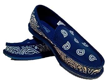 Royal Blue Bandana House Shoes Slippers Trooper Size 8 9 10 11 12 13  8