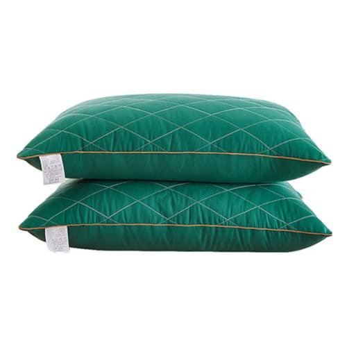 qianbanger Un par Almohada Almohada Hotel Dormitorio Individual Doble para Estudiantes para Proteger la Columna Cervical Toda la Cabeza en casa Hombres y Mujeres para Ayudar a Dormir