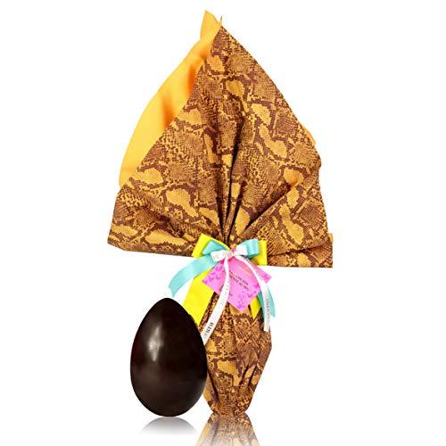 Rinaldini Uovo di Cioccolato Fondente, Cacao Min 70%, Uovo di Pasqua Confezionato A Mano, 300 Grammi