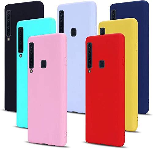 MoEvn 7X Cover per Samsung A9 2018 Custodia, Morbido in TPU Silicone Protezione Case per Samsung Galaxy A9 2018 Smartphone Opaco Gomma Gel Flessibile Sottile Antiurto Cellulare Bumper (7 Colori)