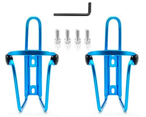 SCSpecial Juego de 2 jaulas para botellas de agua para bicicletas, soporte para botellas livianas para bicicletas, para bicicleta - Azul