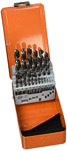 Projahn Spiralbohrer Metallkassette (25-teilig, linksschneidend, aus dem Vollen geschliffen, lange Lebensdauer) 60375L