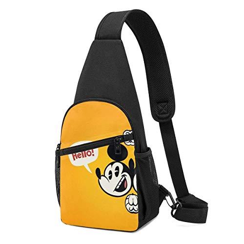 Trista Bauer Sling Bag - Mi-CK-EY-Mouse Crossbody Sling Mochila Viaje Senderismo Bolsa de Pecho Mochila para Mujeres Hombres-BVQ