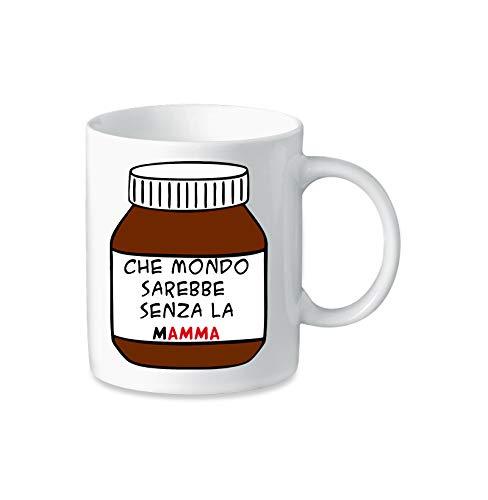 Tazza Mug in Ceramica Festa della mamma - Mamma Nutella - Humor - Happy Mother's Day - Idea Regalo