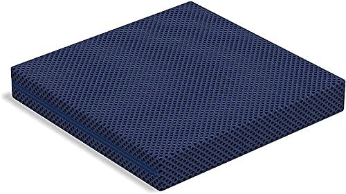 Tecnocolchón Cojín Antiescaras Visco Air | Funda Lavable a 60ºC para una Mejor higiene | 40x40x6 cm | Reversible con 2 Lados Diferentes de firmeza