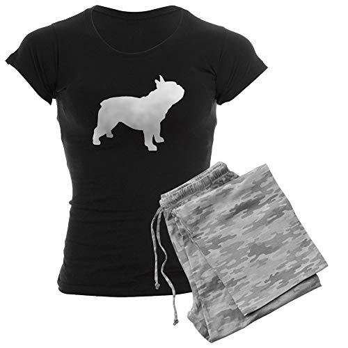 CafePress French Bulldog Women's Dark Pajamas Womens Novelty Cotton Pajama Set, Comfortable PJ Sleepwear