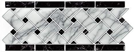 Art3d 10 Sheet Peel and Stick Tile Backsplash 12 4 x5 Self Adhesive Decorative Waist Line Mosaic product image