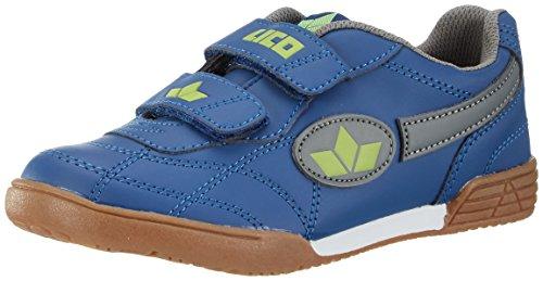 Lico Unisex Kinder Bernie V Hallenschuhe, Blau (MARINE/GRAU/LEMON), 32 EU