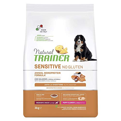 Trainer Natural Sensitive No Gluten Medium & Maxi Puppy & Junior con Salmone 3 kg