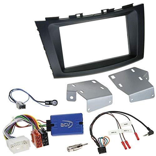 Einbauset mit Lenkradadapter für Doppel DIN Autoradio in Suzuki Swift (ab 2011)