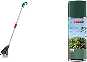 Bosch F016800329 Isio Telescopic Handle & Bosch 1609200399 Lubricant Spray for Hedgecutters, Grass and Shrub Shears, Keo 2...