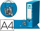 5 ARCHIVADORES DE PALANCA LIDERPAPEL A4 FILING SYSTEM CELESTE CON CAJA
