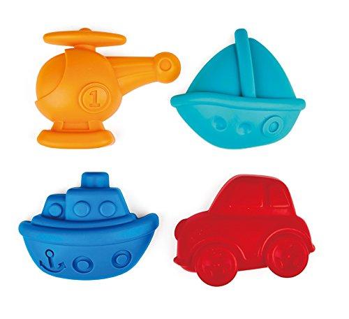 Hape E4085 - Fahrzeuge-Förmchen, Strandspielzeug/Sandspielzeug, mehrfarbig