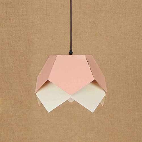 Lámpara colgante de lámpara Lámpara colgante de hierro industrial moderna LED E27 Lámpara colgante de 220 V con 6 colores para sala de estar, comedor, dormitorio, cafetería, barra de estudio