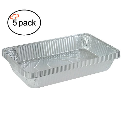 Pack of 50 TigerChef TC-20324 Durable Aluminum Oblong Foil Pan Containers with Clear Dome Lids 2-1//4 Pound Capacity Pack of 50 Tiger Chef 0026-00543-00592@50PK 8.44 x 5.89 x 1.8 Size 8.44 x 5.89 x 1.8 Size