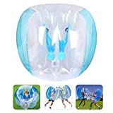 Bumper Balls 1.2m/4FT Inflatable Bumper Bubble Soccer Balls for Kids/Teens/Adults Dia Giant Human Hamster Ball Body Zorb Ball Outdoor Team Gaming Play (Blue)