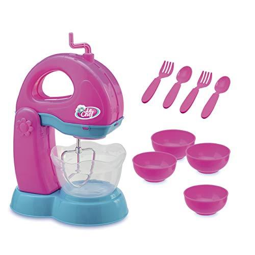 Kit Batedeira Le Chef Usual Brinquedos Azul/rosa