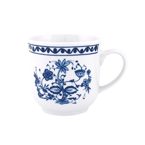 Triptis Romantika Zwiebelmuster Kaffeebecher, 300 ml, Porzellan, weiß/blau (4er Pack)