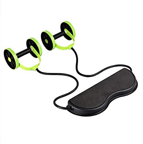 Sport Core Double AB Roller Équipement d'exercice Abdominal Power Roll Trainer Amincissement de la taille Exercices Core Double Roue Fitness Équipement de fitness pour abdominaux