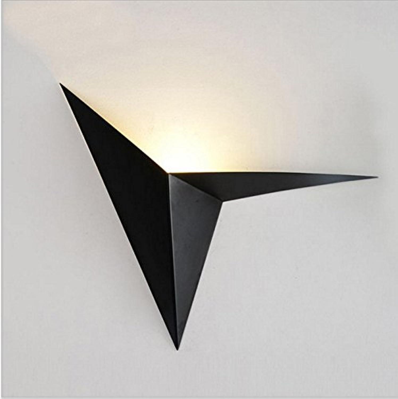 Wlxsx Kreative Eisen Speziell Geformten Dreieckigen Wandleuchte Nordic Einfachen Schlafzimmer Nacht Studie Hotel Frontleuchte Schwarz