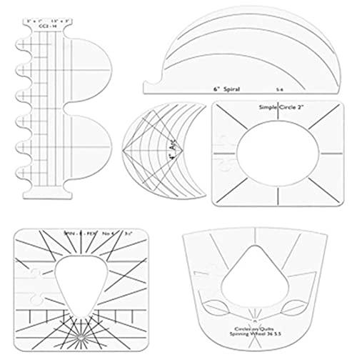 bansd Regla de acrílico en Forma de Costura Regla de Patchwork Multifuncional DIY procesamiento de Costura Regla Plantilla Herramienta de Patchwork