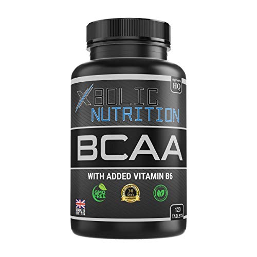 XBOLIC NUTRITION BCAAs + Vitamin B6-120 Tablets - Money Back Guarantee - Free Lifetime Support - 1200MG Per Serving - 100% Allergen Free - ISO9001 and GMP Certified Product