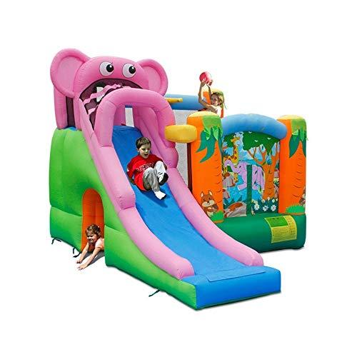 Aufblasbare Garten-Hüpfburg Mit Indoor Outdoor-Schlag-Haus mit Rutsche Aufblasbare Hüpfburg Jump Schloss Mit Luft-Gebläse for Kinder-Party (Farbe : 01, Größe : 360x300x240cm)