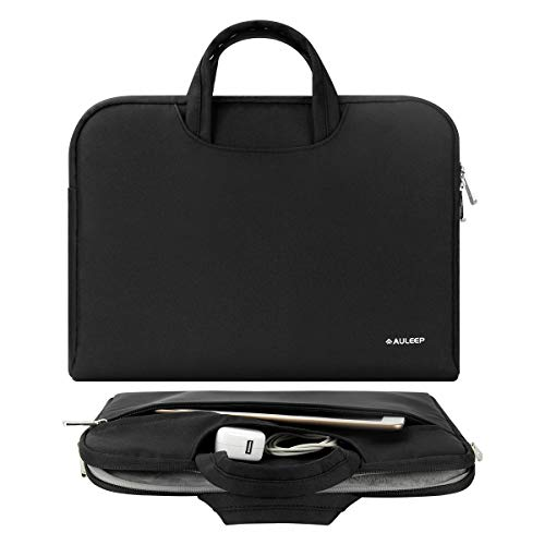 AULEEP Laptop Case, Handle Computer Bag 15-15.6 Inch Carrying Sleeve Bag Notebook Computer Case/ Water-Resistant Computer Sleeve for Acer/Asus/Dell/Lenovo/HP, Black