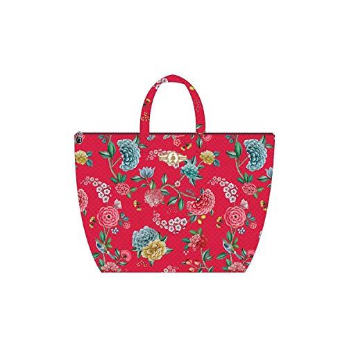 PiP Studio strandtas Good Night rood bloemen bloemen strand vakantie Beach Bag