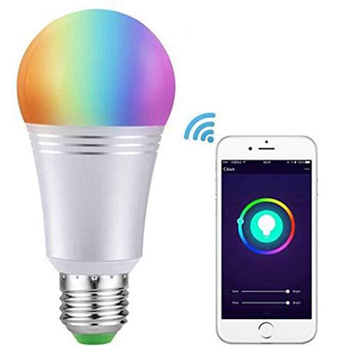 LOVEPET WiFi Licht 11W Birne LED-Glühbirne Bunte RGBW-Farbänderung Mobile-App Dimmen Alexa Google-Home-Licht Intelligentes Zuhause