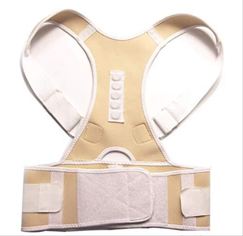 VBNM Soporte de Espalda Envío De La Gota Terapia Magnética Corrector De Postura Brace Soportes Cinturón Hombro M Beige