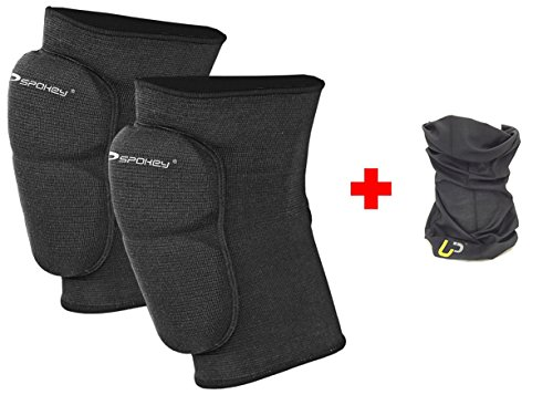 Spokey Knieschoner Handball + UP Halstuch | Schoner Volleyball | Knieschützer für Damen & Herren | Knee Pads for Women Men | Skiing | Gr. S | Switch