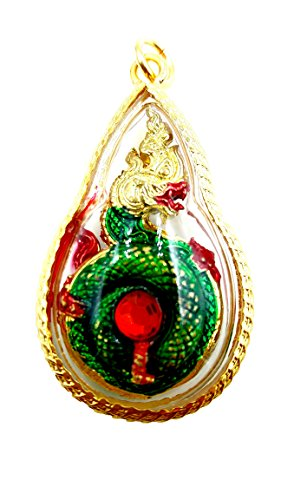 Naga eye gems red color powerful protection lucky & success holy pandant crystal with amulet necklace