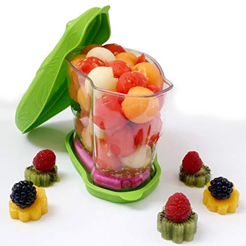Salatbox unterwegs Snackdose Lunchdose Kühldose Obstdose Kinderdose Vesperdose mit Kühlakku und Kühltasche! 0,9 L, 6 Std. Kühlleistung (BPA- und Resthormonenenfrei)