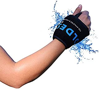 The Coldest Wrist Ice Pack Hand Support Reusable Flexible - Best Cold Therapy Relief for Rheumatoid Arthritis, Tendinitis, Carpal Tunnel Pain, Injuries, Swelling, Bruises and Pain (Wrist Ice Pack)