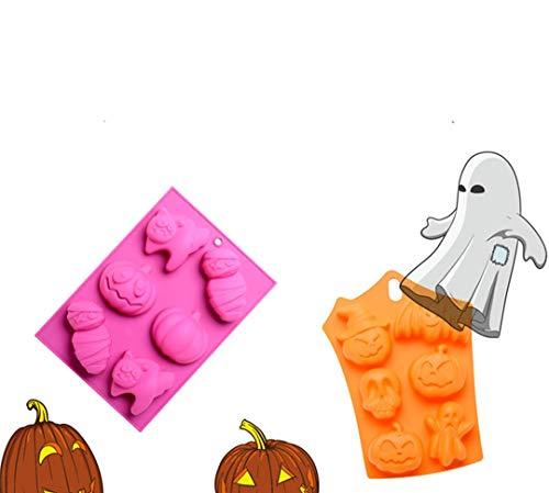 FantasyDay® Stampo in Silicone Accessorio per Cubetti di Ghiaccio, Biscotti, Tortini, Cioccolato, stampi Zucchero Torte Stampi Sapone - Muffa di Halloween
