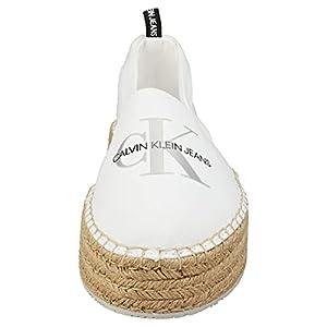 Calvin Klein Espadrille Wedge Printed Mujeres Zapatos sin Cordones White - 39 EU