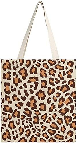 MODORSAN Bigleopard Copy Png Canvas Tote Bag, bolsos de hombro, bolsos de compras para niñas, bolsos de artículos diversos, bolsos de transporte de libros