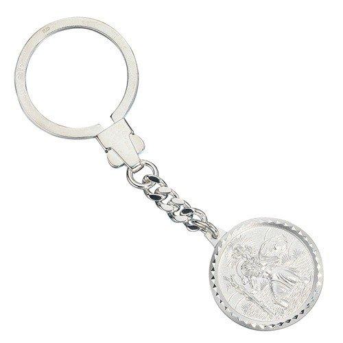 Ciondolo portachiavi San Cristoforo 925vero argento unisex