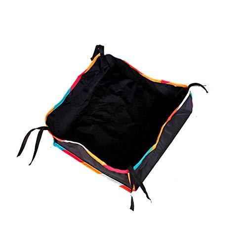 Borsa portaoggetti per passeggino, accessori per la spesa e la casa, grande capacità, organizer in tessuto Oxford, universale, per esterni, con lacci (multicolore) Taglia libera Multicolore
