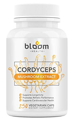 High-Power Cordyceps Capsules 250 Veggie Pills - Cordyceps Sinensis Mushroom Extract Energy Booster Supplement - 7% Polysaccharides with Alpha and Beta Glucans - Organic, Non-GMO, Gluten-Free