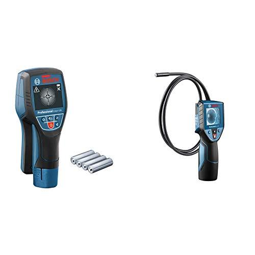 Bosch Professional Ortungsgerät D-tect 120 (4 x AA Batterien) & Inspektionskamera GIC 120 (Kabellänge: 120 cm, Display: 2,7'', 4X AA-Batterie, im Karton)