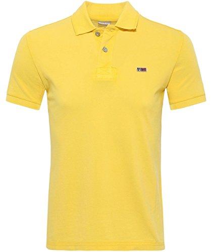 Napapijri Herren Stefano Tomasoni Neue Hemd-Polo Gelb Small gelb