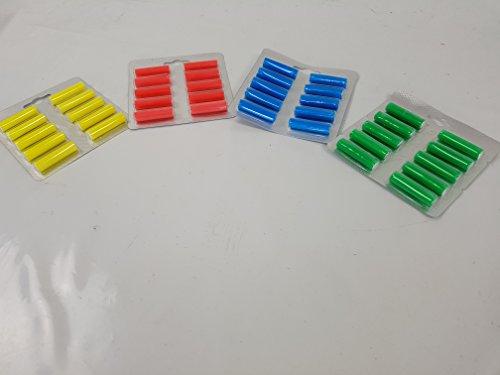 Spar Set 40 Duftstäbchen 1x gelb, 1x grün, 1x rot, 1 blau Duftchips geeignet für Vorwerk 130 131