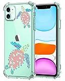 Oihxse Funda Compatible con iPhone 12 Pro 6.1'' 2020 Ultra Delgada Ligera Transparente Silicona TPU Gel Suave Carcasa Elegante Patrón Anti-Rasguño Protector Caso-Tortuga A4