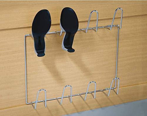 Gedotec Wand-Schuhablage Schuhhalter zum Schrauben an die Wand | PREMIUM Schuhregal für 4 Paar...
