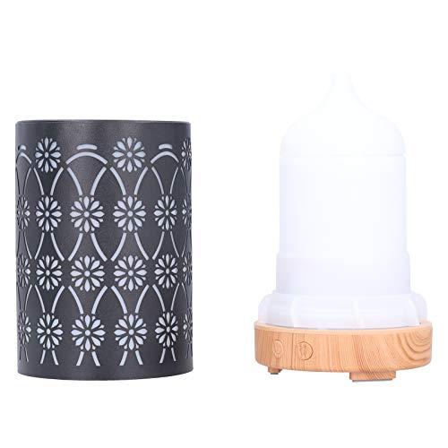 Humidificador ultrasónico, difusor de aceite esencial EU 100-240V Humidificador de aroma Difusor de aroma que cambia de color con apagado automático, para el hogar del dormitorio