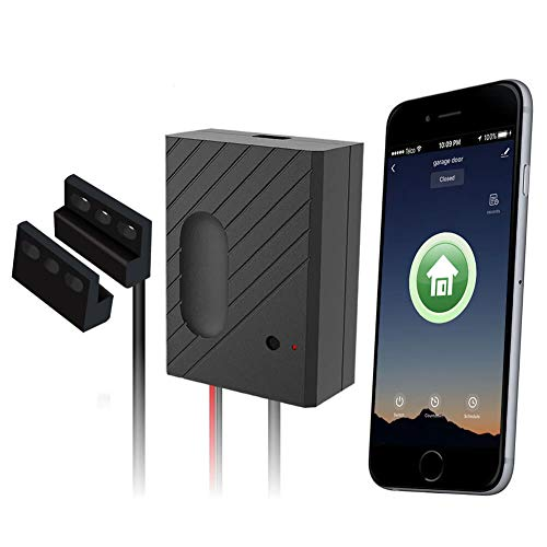 EACHEN Smart WiFi Garage Door Opener Remote Controller, Tuya Smart Life App Control, Compatible with Alexa, Google Assistant and IFTTT, No Hub Required (GD-DC5)